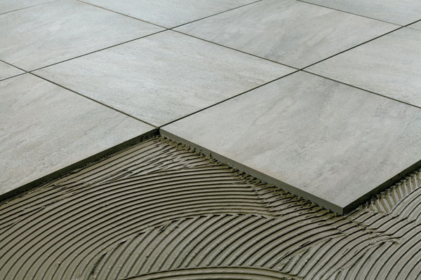 dry installation of external tiles